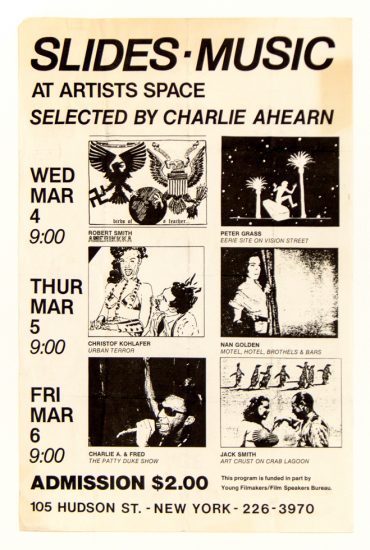 Charlie Ahearn, Slide show, Artists Space