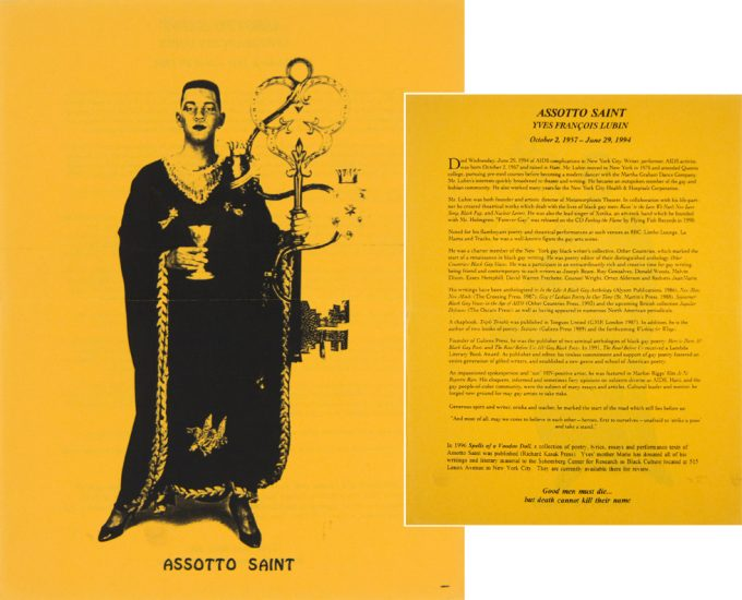 Assotto Saint, Memorial Flyer