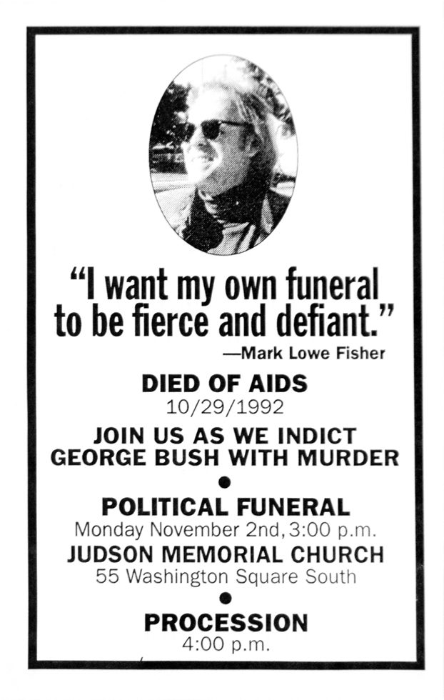 ACT UP Memorial Flyer (Judson Memorial Church)