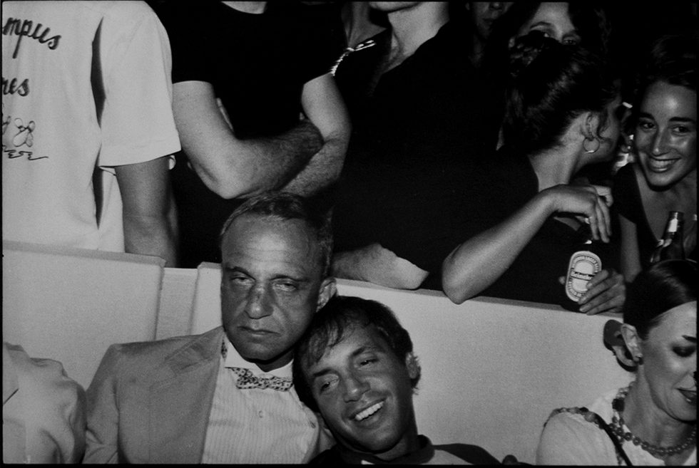 Roy Cohn and Steve Rubell at the Mudd Club