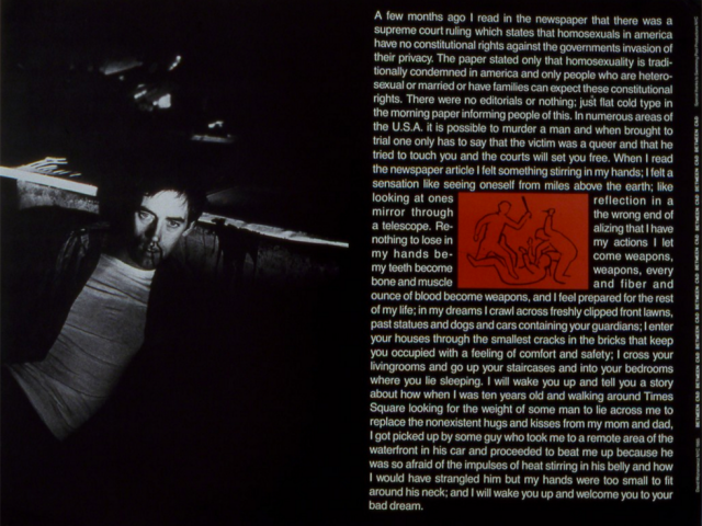 David Wojnarowicz, Between C and D, Poster