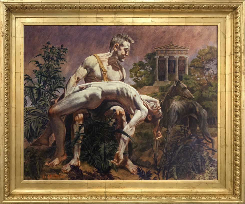 [Hippolyte-Alexandre Michallon (1849-1930)] Hercules Mourning the Death of his Cupbearer Hylas