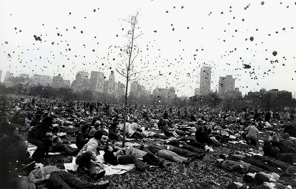 Peace Demonstration, Central Park, New York