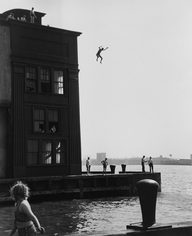Boy Jumping into the Hudson River, NYC