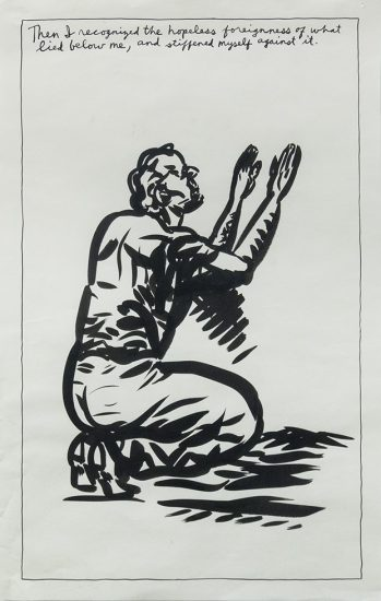Pettibon, Untitled (Then I recognized...)
