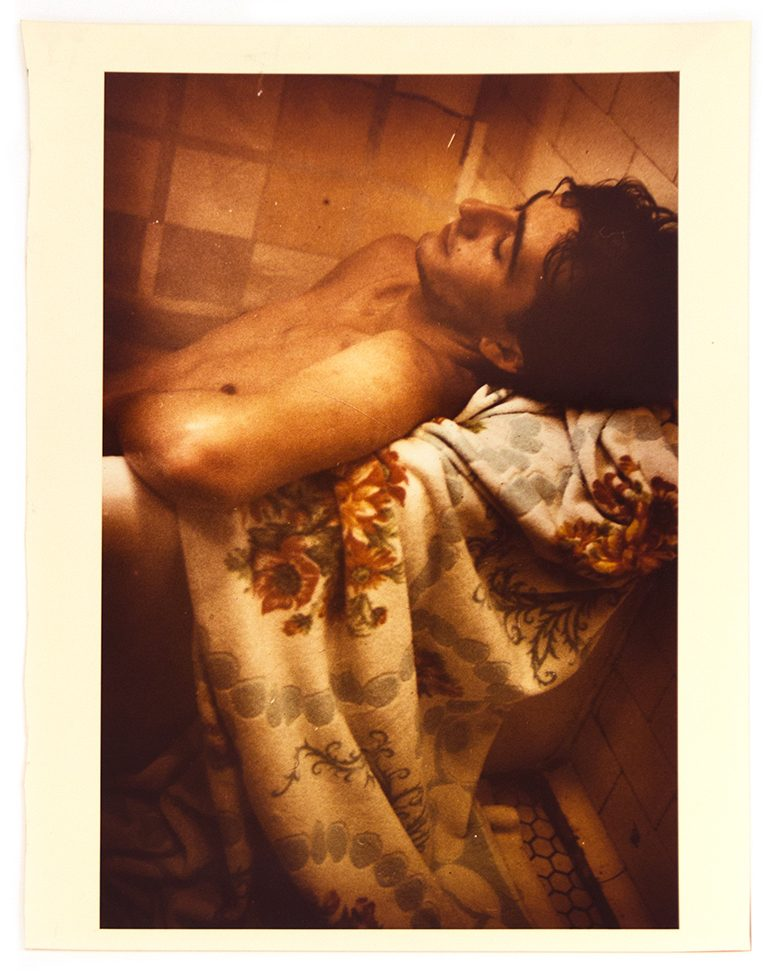 Untitled (Man in Bath with Flowered Towel)