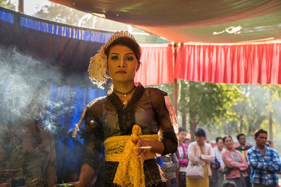 A Spirit Medium During a Festival at the Foot of Mt. Popa, Burma