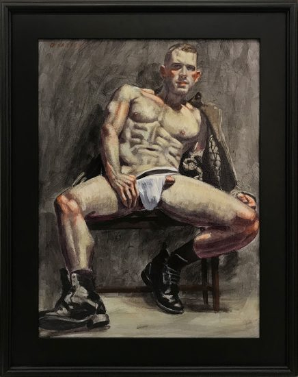 Mark Beard, Bruce Sargeant (1898-1938)] Man with Unlaced Boots