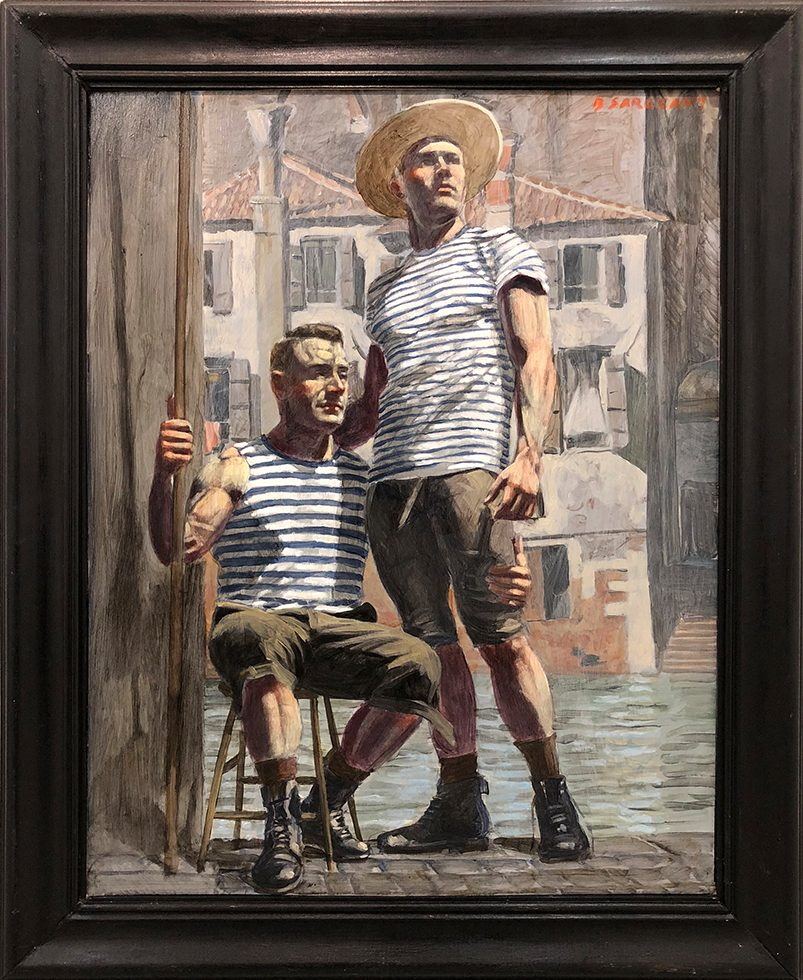 [Bruce Sargeant (1898-1938)] Two Gondoliers, One Seated