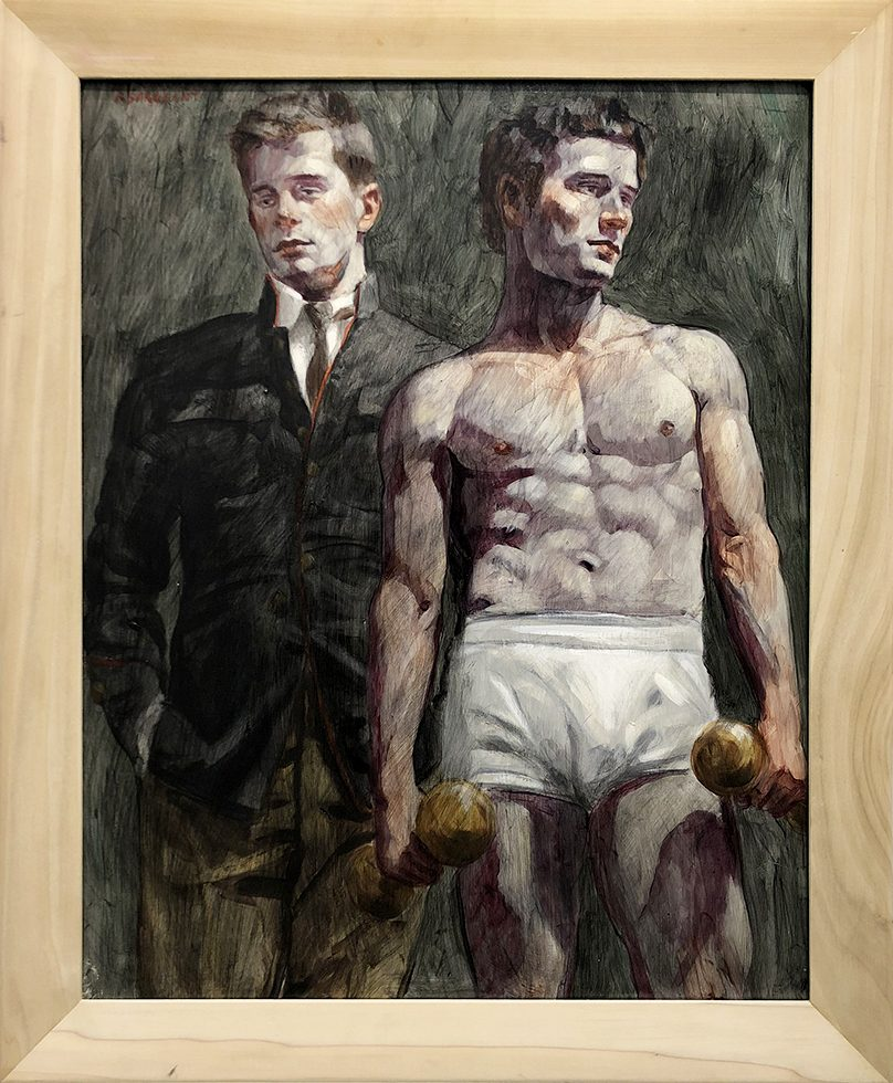 [Bruce Sargeant (1898-1938)] Two Men, One With Dumbbells
