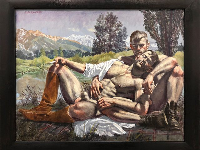 Mark Beard, Bruce Sargeant (1898-1938), Two Men Reclining on a Blanket