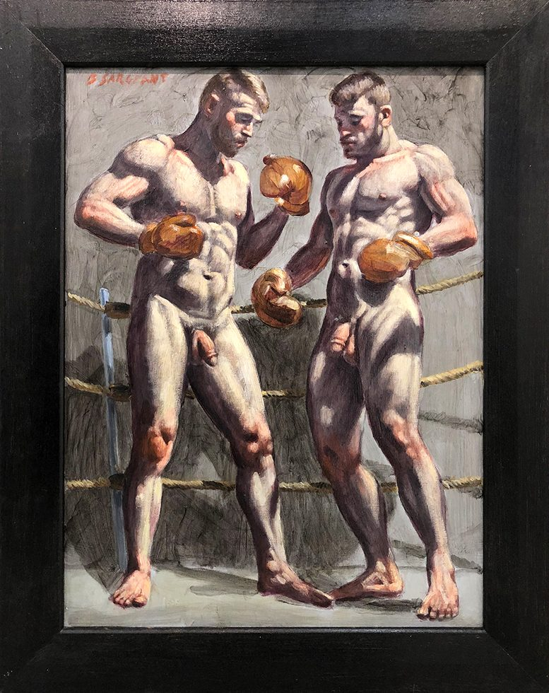 [Bruce Sargeant (1898-1938)] Two Men in Boxing Gloves