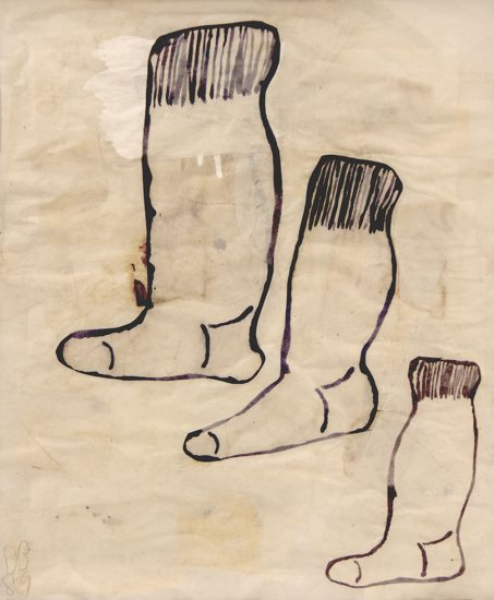 Donald Baechler, Untitled (Socks)
