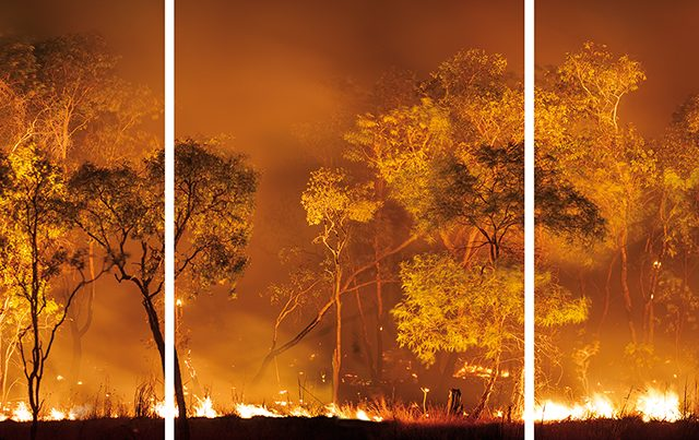 Olaf Otto Becker, Bushfire Lit to Clear Land, Australia, 2008
