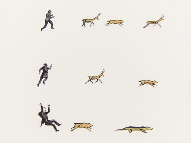 Marcel Dzama, Yesterday the deer had been asking me about the gator, 2001