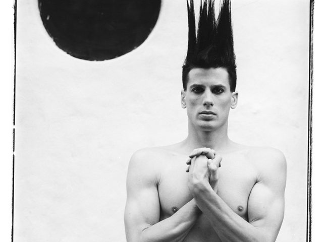 Steven Klein, Boy with Hair Sticking Up #2