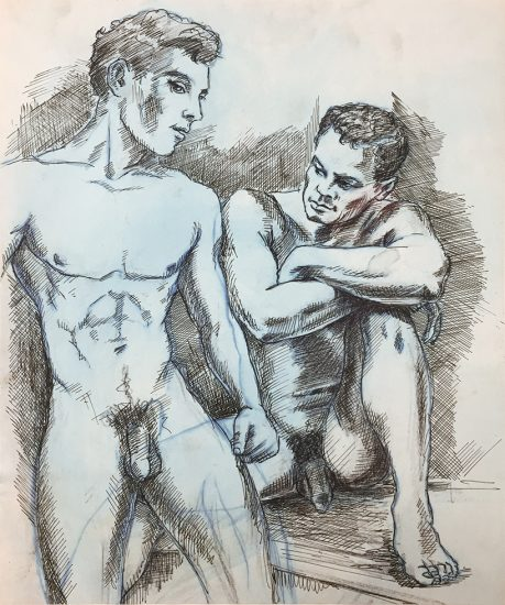 John S. Barrington, Sketch of Two Men