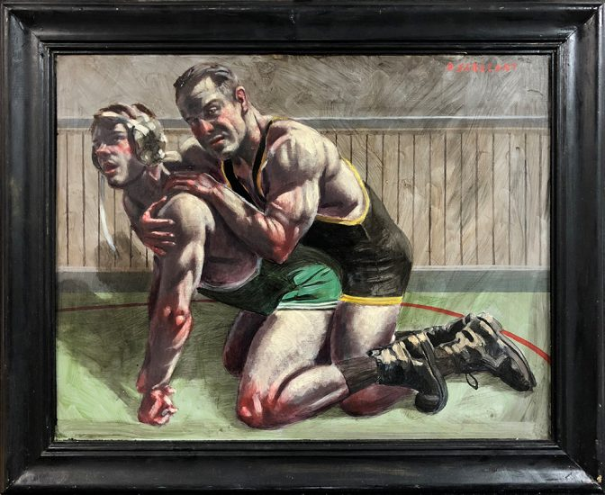 Mark Beard [Bruce Sargeant (1898-1938)] Competitive Wrestling Match, Recto
