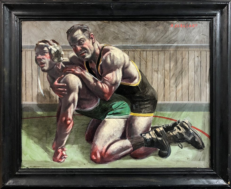 [Bruce Sargeant (1898-1938)] Competitive Wrestling Match
