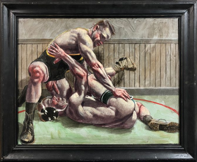 Mark Beard, [Bruce Sargeant (1898-1938)] Competitive Wrestling Match, NSFW Verso