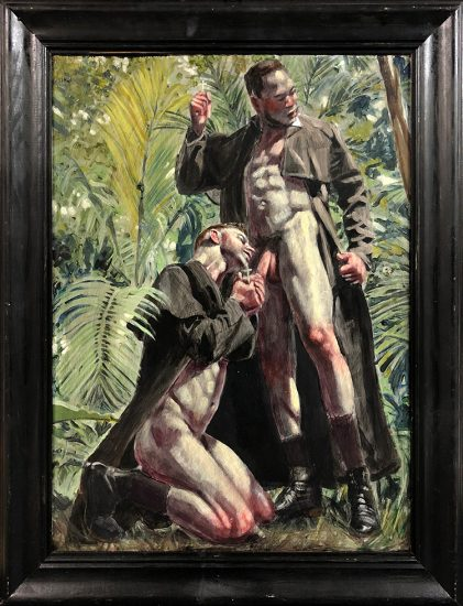 Mark Beard [Bruce Sargeant (1898-1938)] Salvation in the Tropics, NSFW Verso