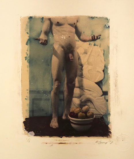 Mark Beard, Untitled (Standing Male Nude with Bowl of Fruit)