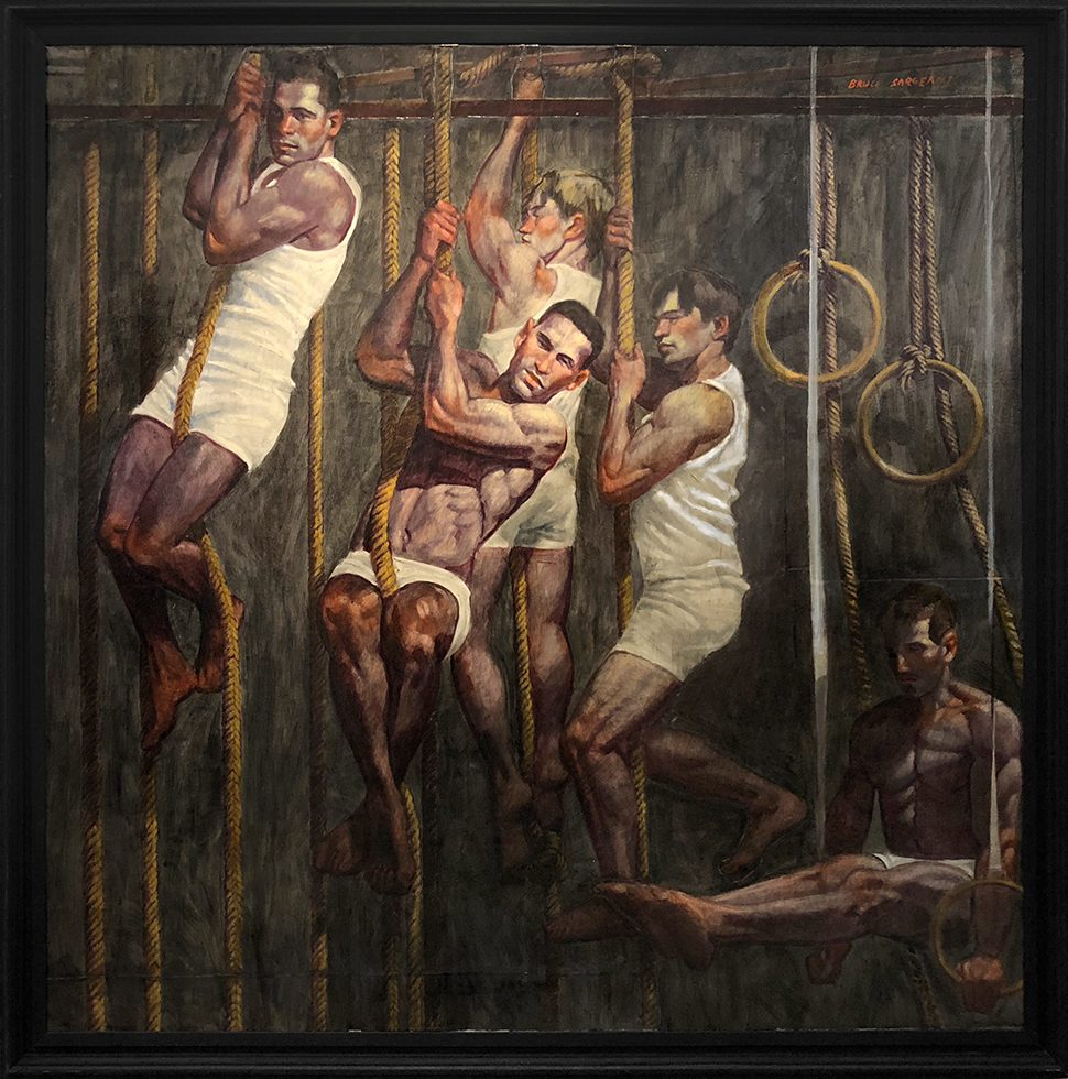[Bruce Sargeant (1898-1938)] Five Gymnasts in Training