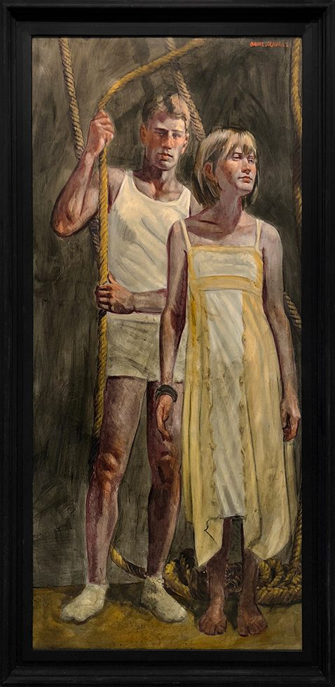 [Bruce Sargeant (1898-1938)] Man with Woman in a Yellow Dress