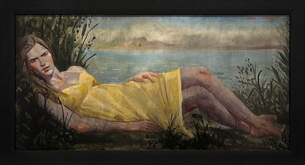 [Bruce Sargeant (1898-1938)] Young Woman Reclining by the Lake