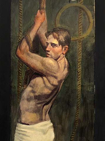 Mark Beard, [Bruce Sargeant (1898-1938)] Pulling Himself Up on the Rope