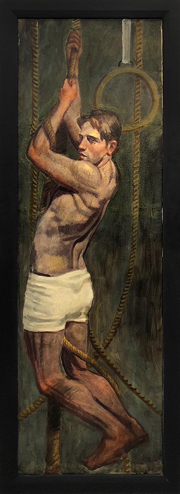 [Bruce Sargeant (1898-1938)] Pulling Himself Up on the Rope