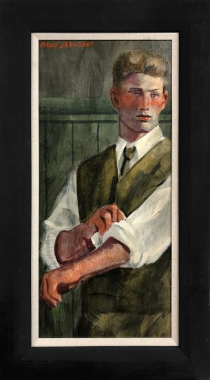 Mark Beard, [Bruce Sargeant (1898-1938)] Boy Rolling Sleeves
