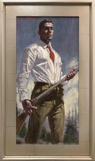 Mark Beard, [Bruce Sargeant (1898-1938)] Hunter with Striped Tie