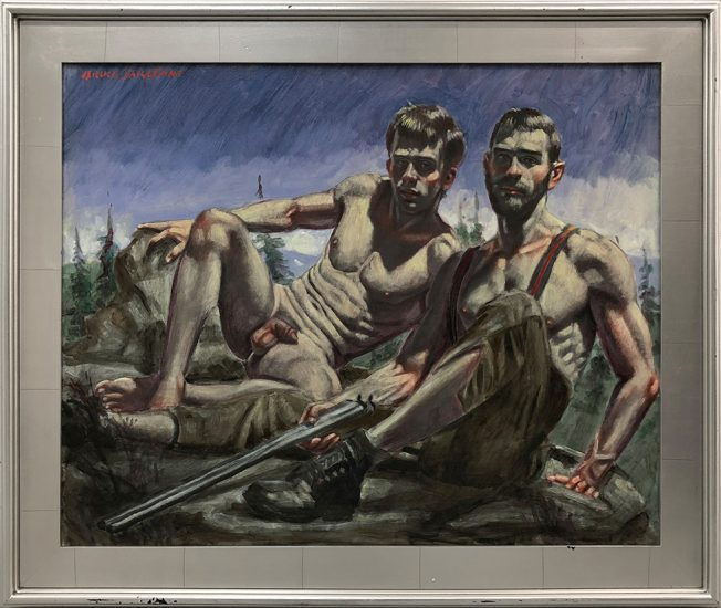Mark Beard, [Bruce Sargeant (1898-1938)] Two Men Reclining on the Mountaintop
