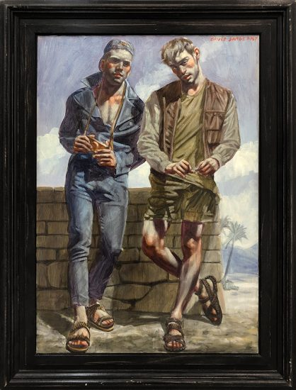 Mark Beard, [Bruce Sargeant (1898-1938)] Two Young Men in Sandals