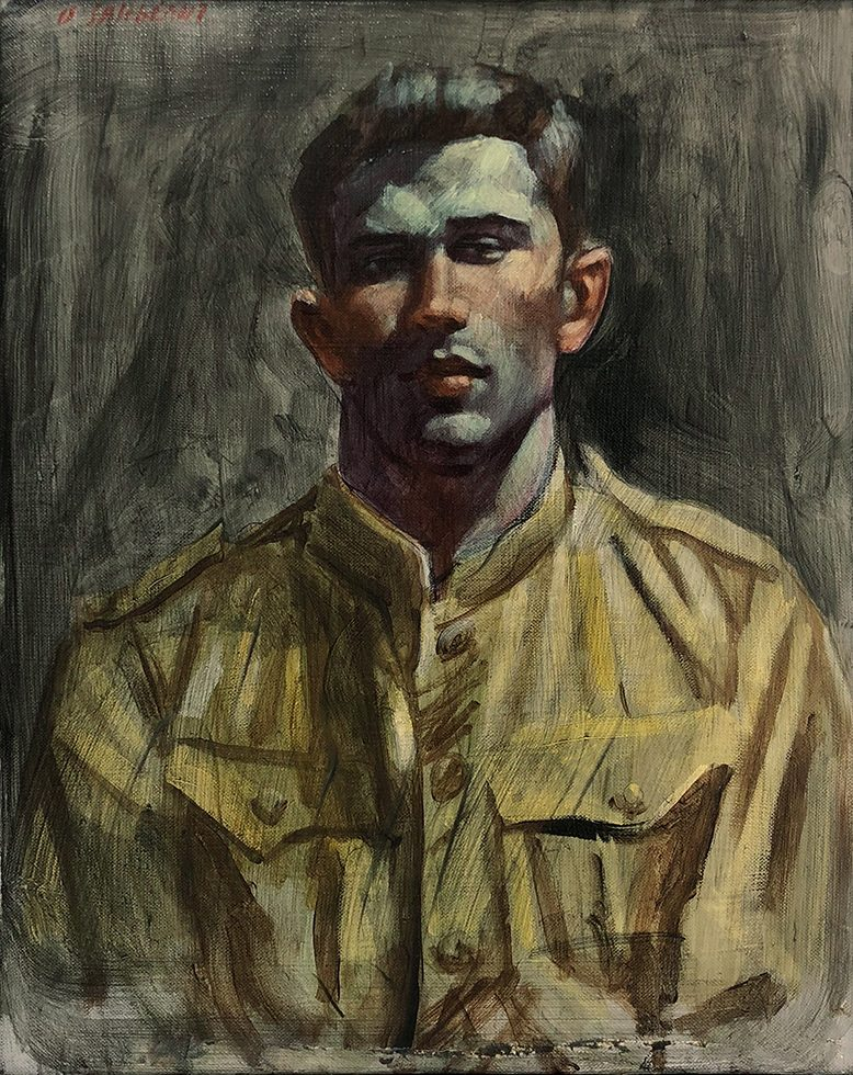 [Bruce Sargeant (1898-1938)] Young Man in Army Jacket
