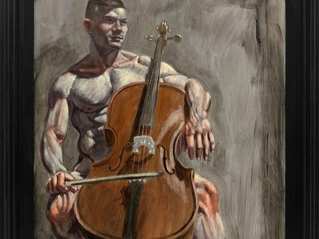 Mark Beard, [Bruce Sargeant (1898-1938)] Cellist Practicing at Home
