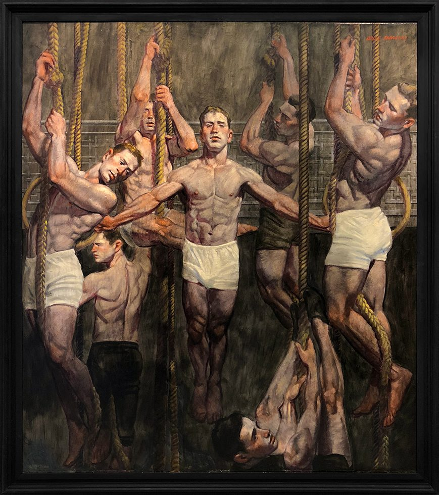 [Bruce Sargeant (1898-1938)] Seven Gymnasts on the Ropes