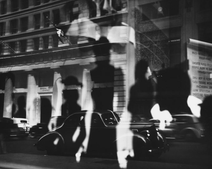 Lisette Model, Reflections, Rockefeller Center, NY