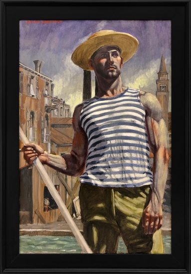 Mark Beard, [Bruce Sargeant (1898-1938)] Gondolier Looking Into the Distance