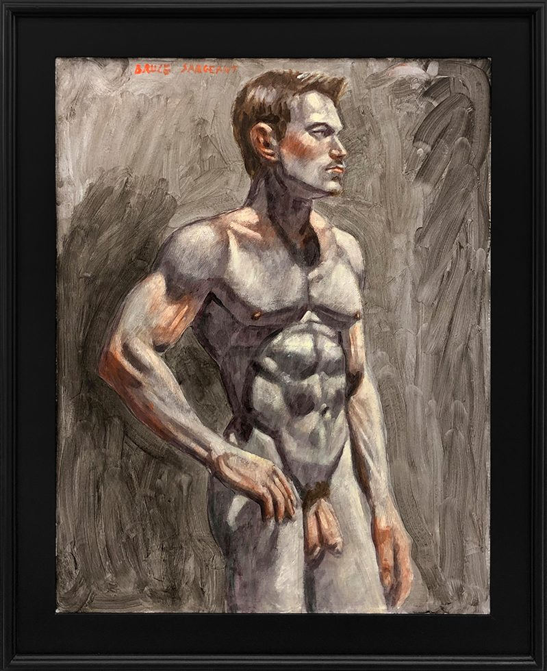 [Bruce Sargeant (1898-1938)] Male Nude Facing Right