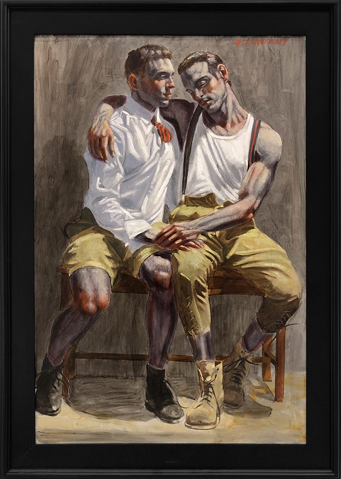 [Bruce Sargeant (1898-1938)] Two Friends Sitting Together