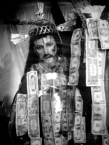 Victor Cobo, God Money, US Dollar Bills Left by Immigrants Before Crossing the Border (Rio Grande) into Texas