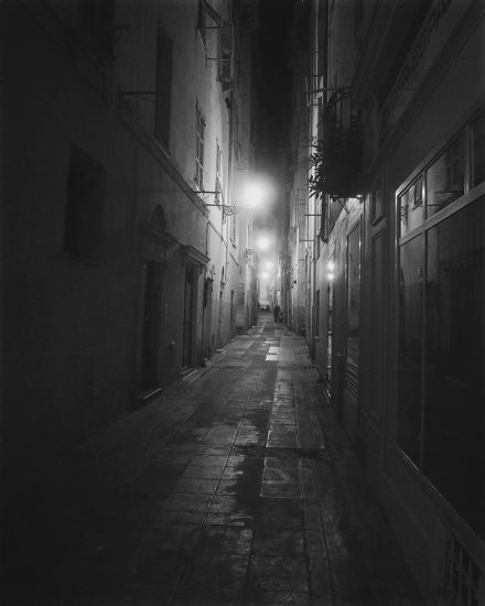 Victor Cobo, Between Heaven and Earth, Somber Bastille Day at Night