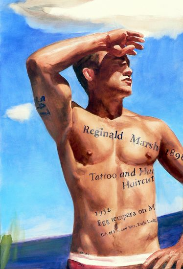 Jack Balas, Reginald Marsh: Tattoo and a Haircut (#547)