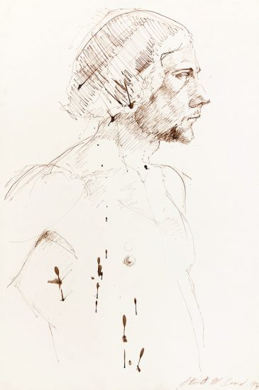 Mark Beard, Untitled (Male Figure Facing Right)