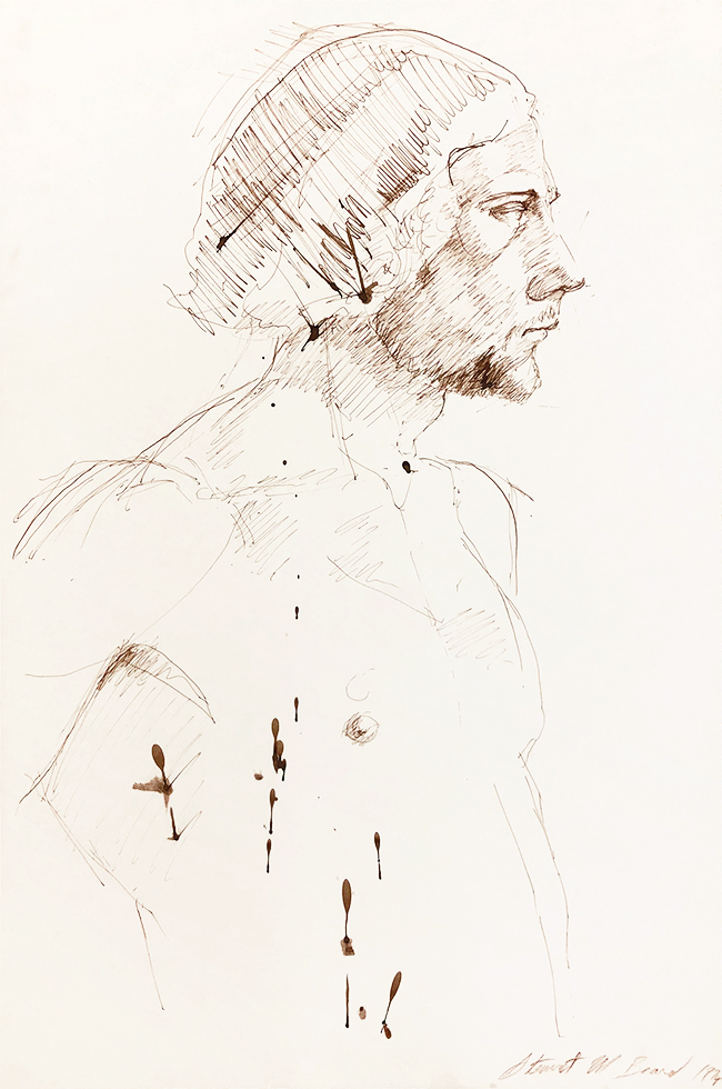 Untitled (Male Figure Facing Right)