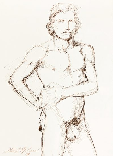 Mark Beard, Untitled (Male Nude with Hands on Waist)