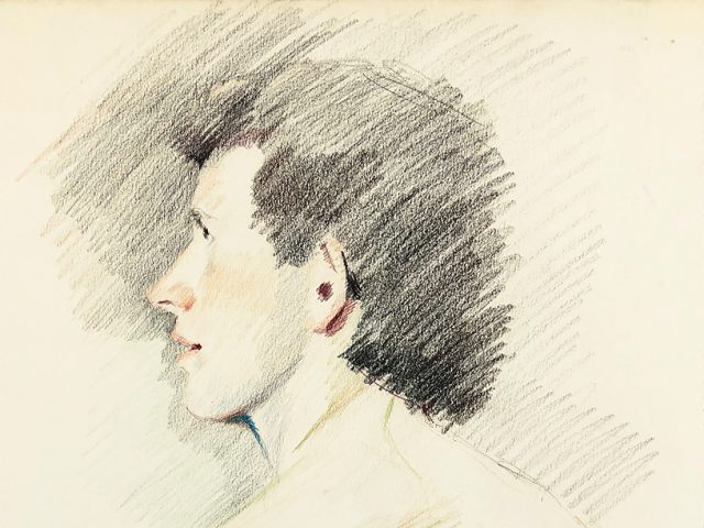 Mark Beard, Untitled (Male Profile from Behind)