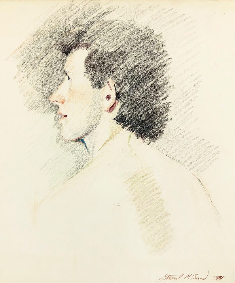 Untitled (Male Profile from Behind)
